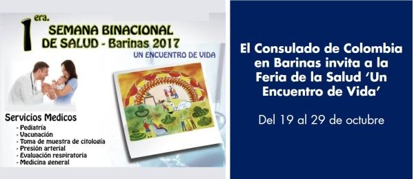 El Consulado de Colombia en Barinas invita a la Feria de la Salud 'Un Encuentro de Vida'