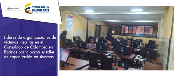 Líderes de organizaciones de víctimas inscritas en el Consulado de Colombia en Barinas participaron el taller de capacitación